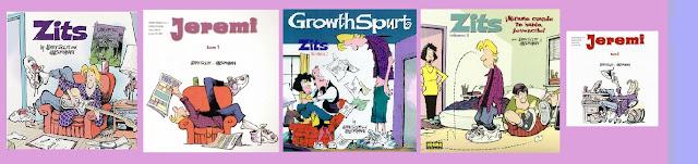 Portadas del cómic Zits, El estirón y ¡Mírame cuando te hablo, jovencito! (Zits 1, 2 y 3)