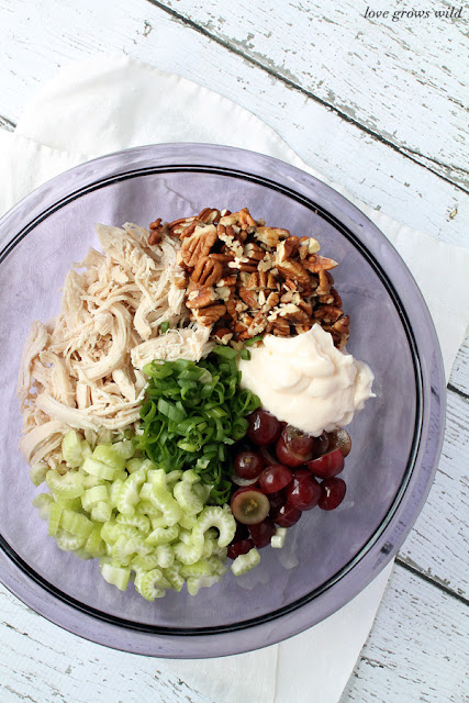 om | The perfect classic chicken salad recipe! A great go-to meal for Summer! #recipe #salad #chicken