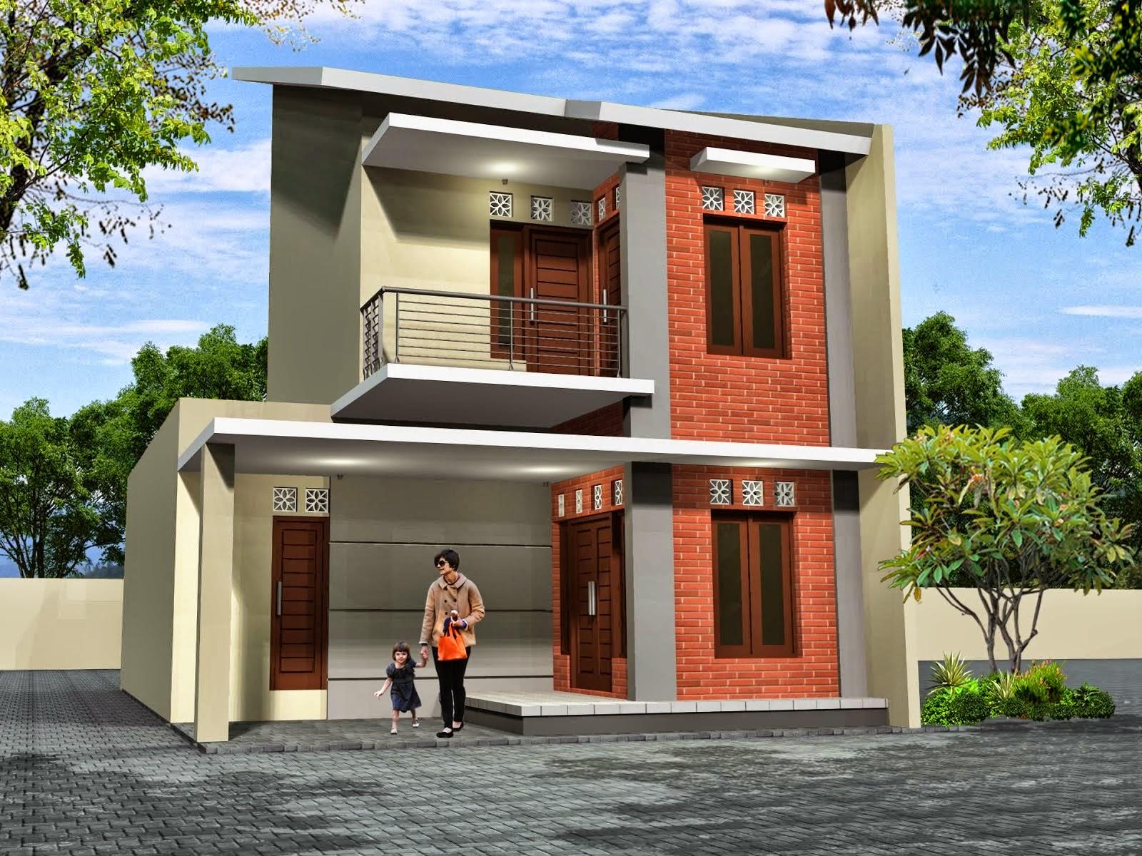 Desain Rumah 2 Lantai Gaya Minimalis Jual Bata Ekspos
