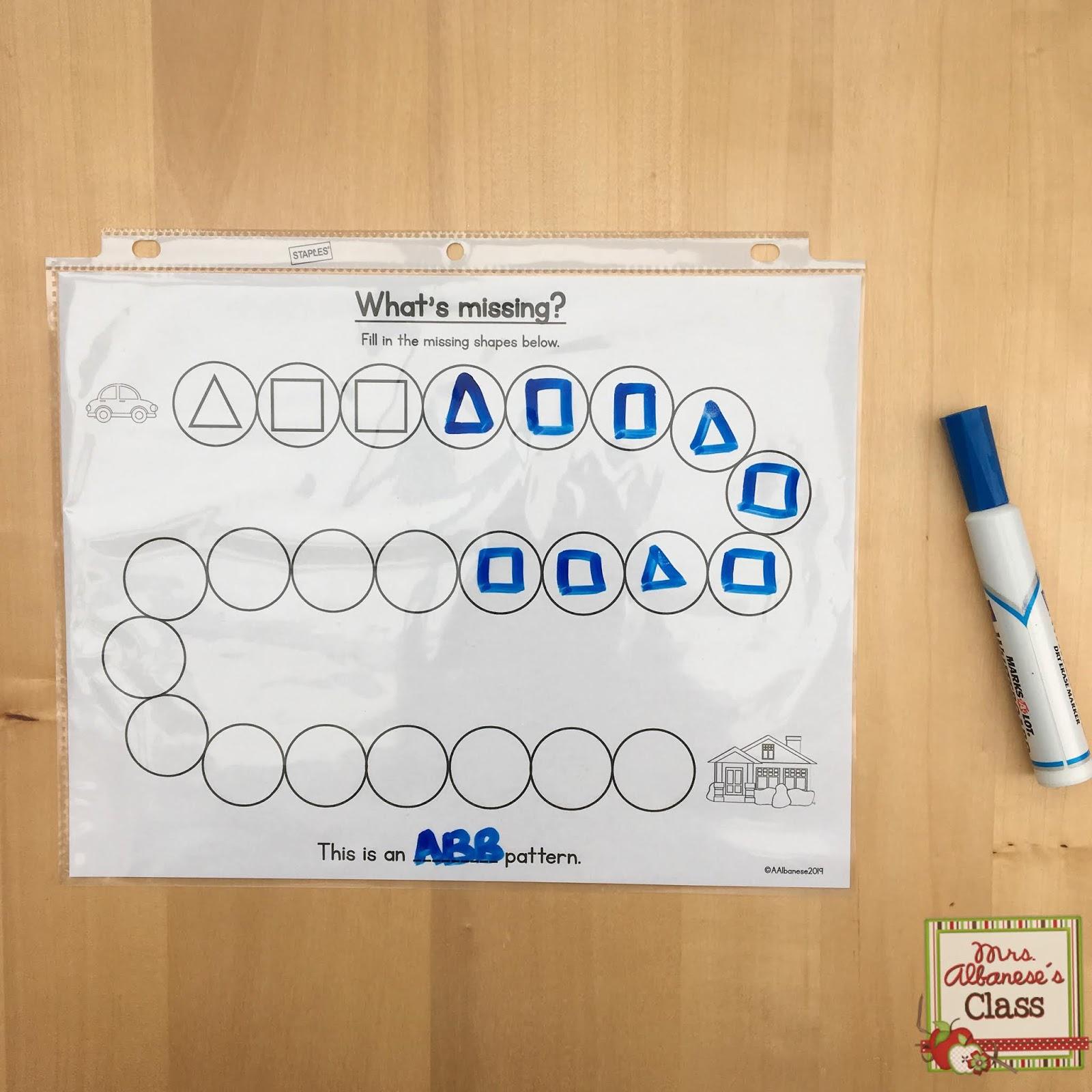 Patterning In Kindergarten