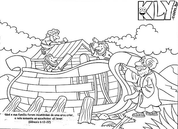 Dibujos Para Colorear Del Arca De Noe Para Imprimir: Desenhos Da Arca De Noé Para Colorir