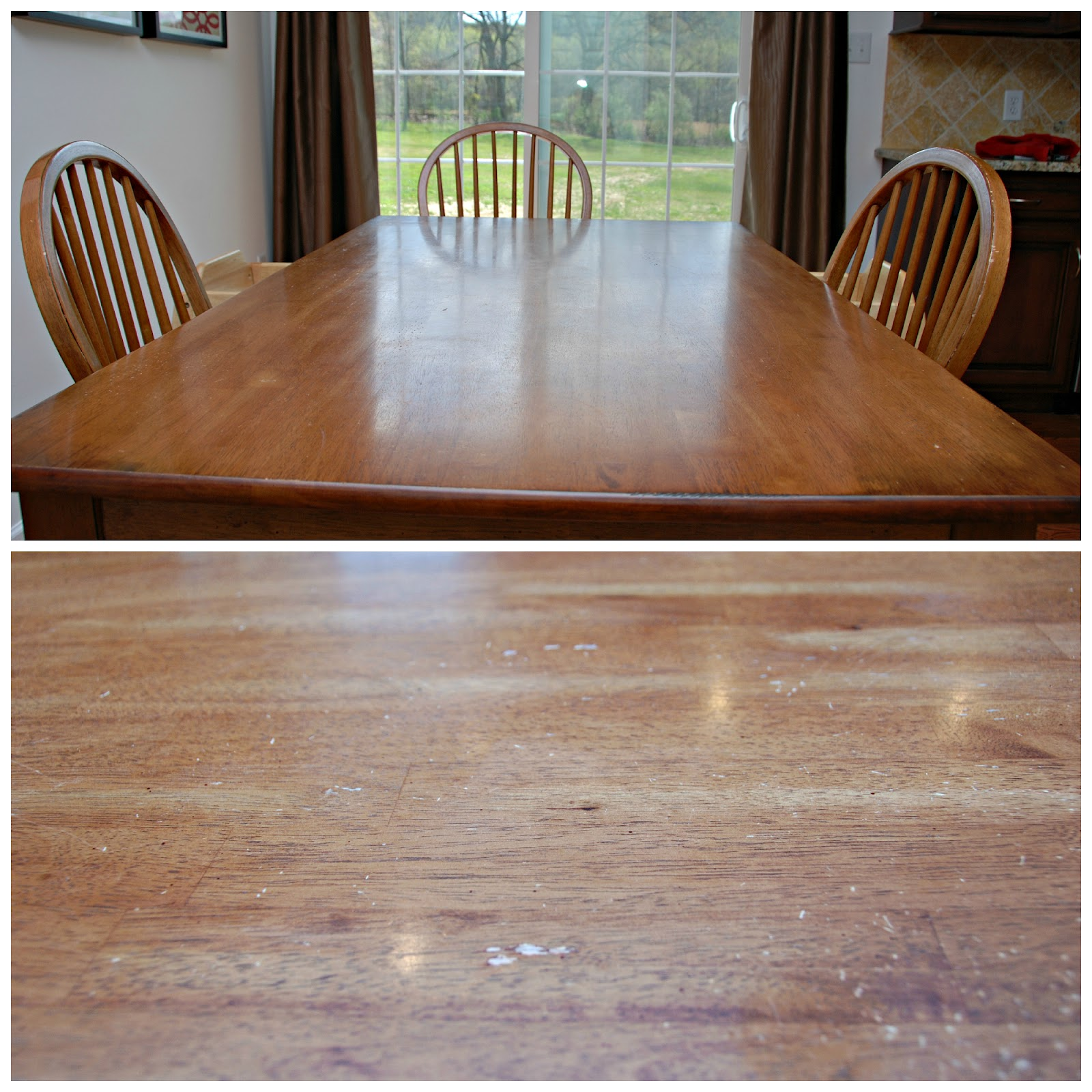 One Creative Housewife: Refinished Kitchen Table