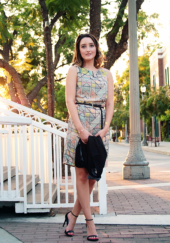 Forever 21 Abstract Print Sheath Dress