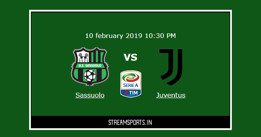 Serie A Juventus V S Sassuolo Preview And Lineup