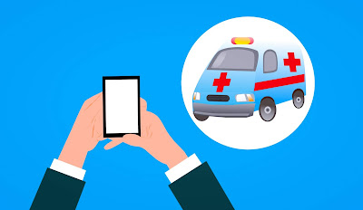Ambulance, Car, Application, Call, Insurance, Flat, Emergency, Concept, Medical, Symbol, Care, Mobile, Hand, Sign, Communication, Phone, Holding, Design, Smartphone, Assistance, Support, Health Service, Aid, Help, App, Device, Clinic, Safety,