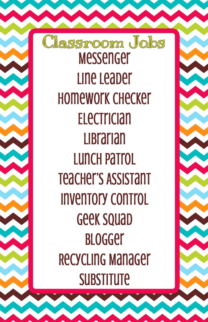 Classroom Job Ideas Elementary ~ Classroom jobs finally i teach what s your superpower