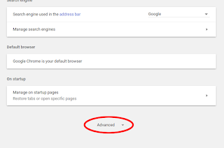 الوصول إلى الإعدادات المتقدمة لمتصفح جوجل كروم