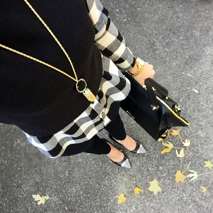 kendra scott, plaid shirt, fall style, zac posen eartha bag, layering, how to dress fall