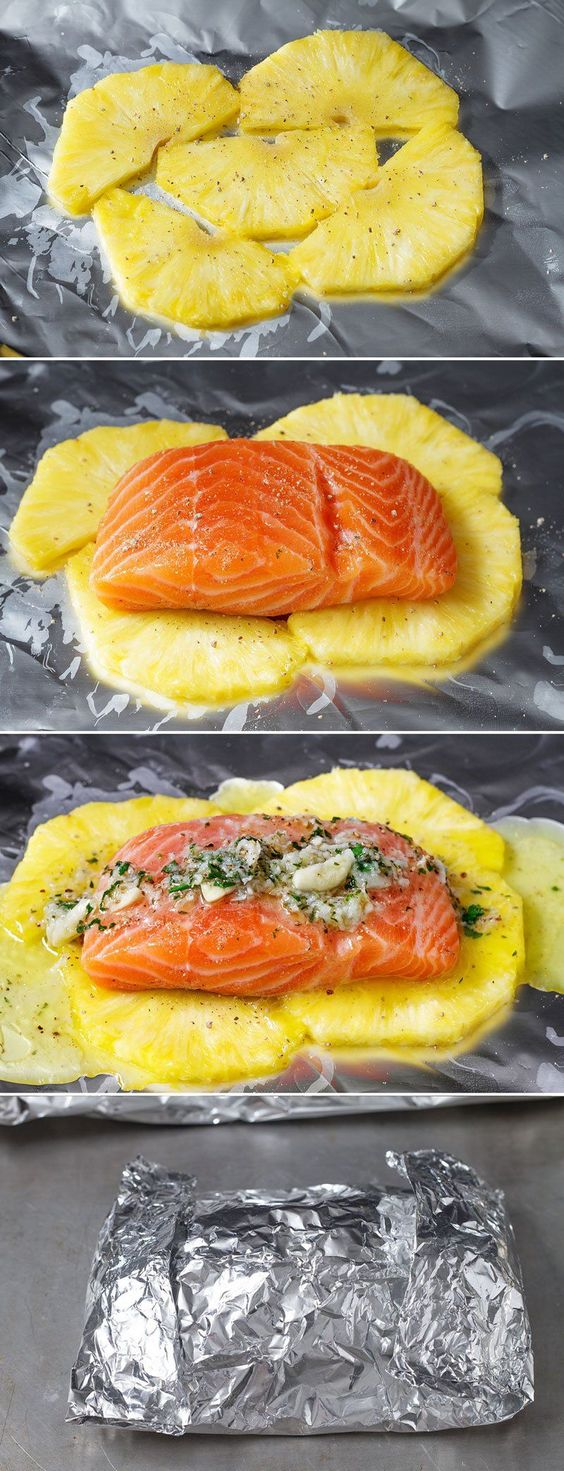 This lemon garlic butter salmon is a breeze to make and the method of cooking it all together in a foil pouch seals in moisture and keeps the sweet aroma intact. A no-fuss weeknight dinner with no …
