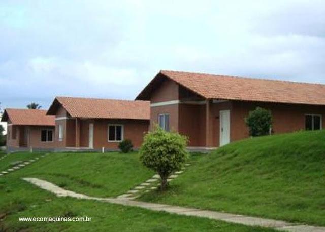 Viviendas construidas con materiales y método económico en Brasil
