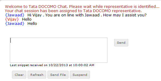 TATA DOCOMO Customer Care Chat Support