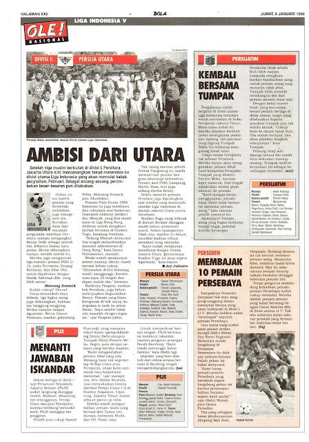 LIGA INDONESIA DIVISI I PROFIL TIM PERSIJA UTARA