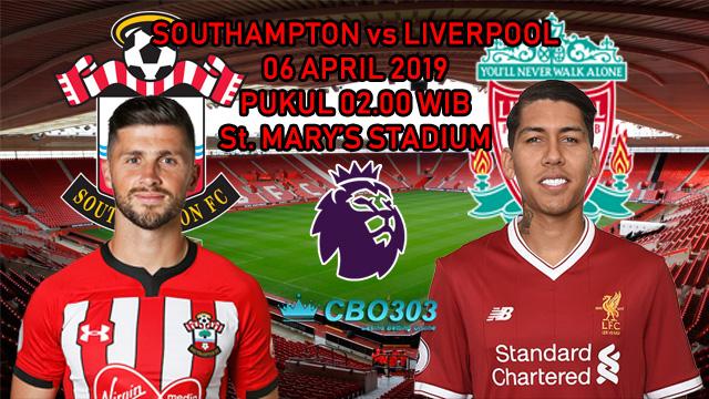 Prediksi Tepat Liga Inggris Southampton vs Liverpool (6 April 2019)