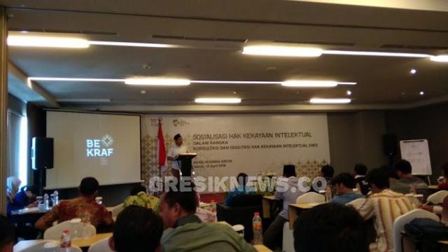 Bekraf Indonesia Sosialisasi Hak Kekayaan Intelektual di Gresik