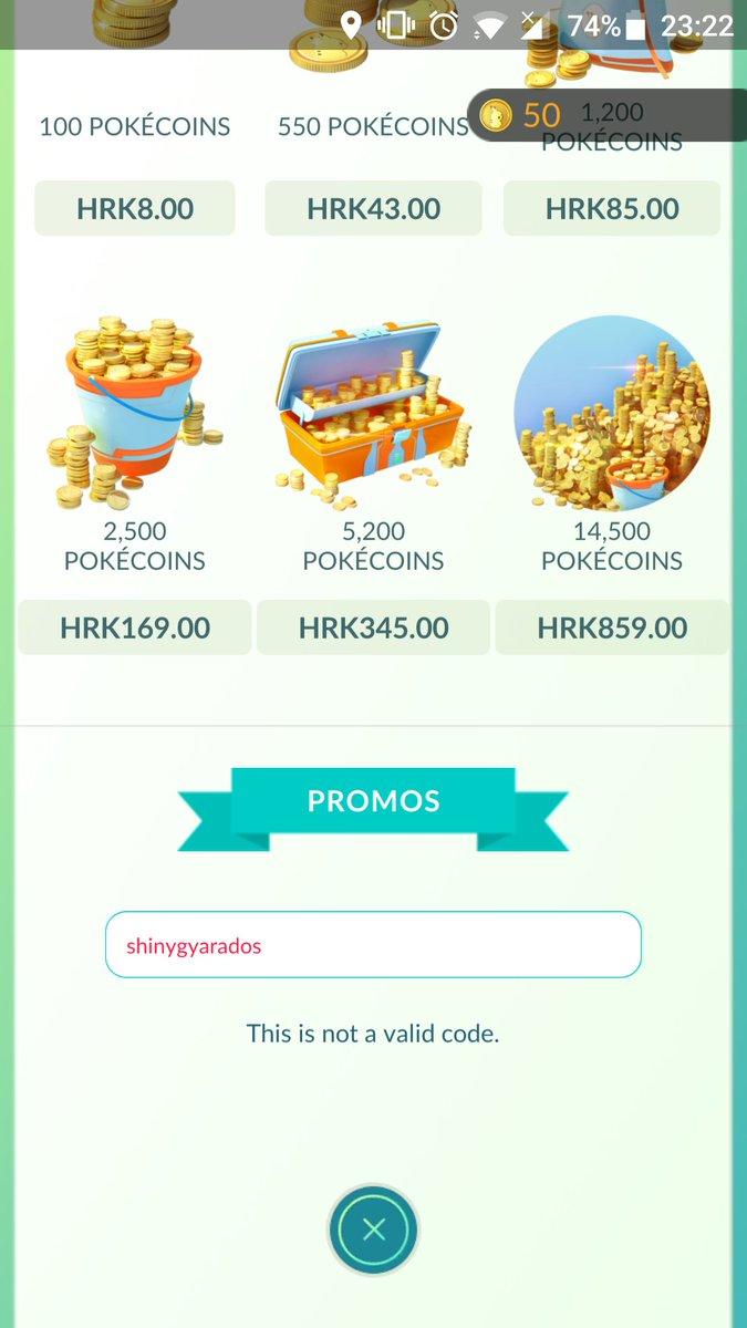 Pokémon GO añade los códigos promocionales a la tienda, ¡pokémon, objetos...!
