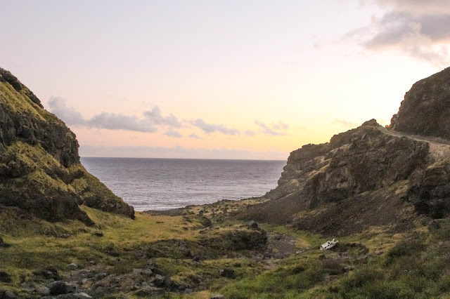 sunset on the back road of Road to Hana