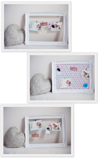 One+Frame+Three+Ways DIY Tutorial | Gilt Frame Memo Board | One Frame Three Ways