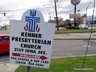Kenner Presbyterian Church sign