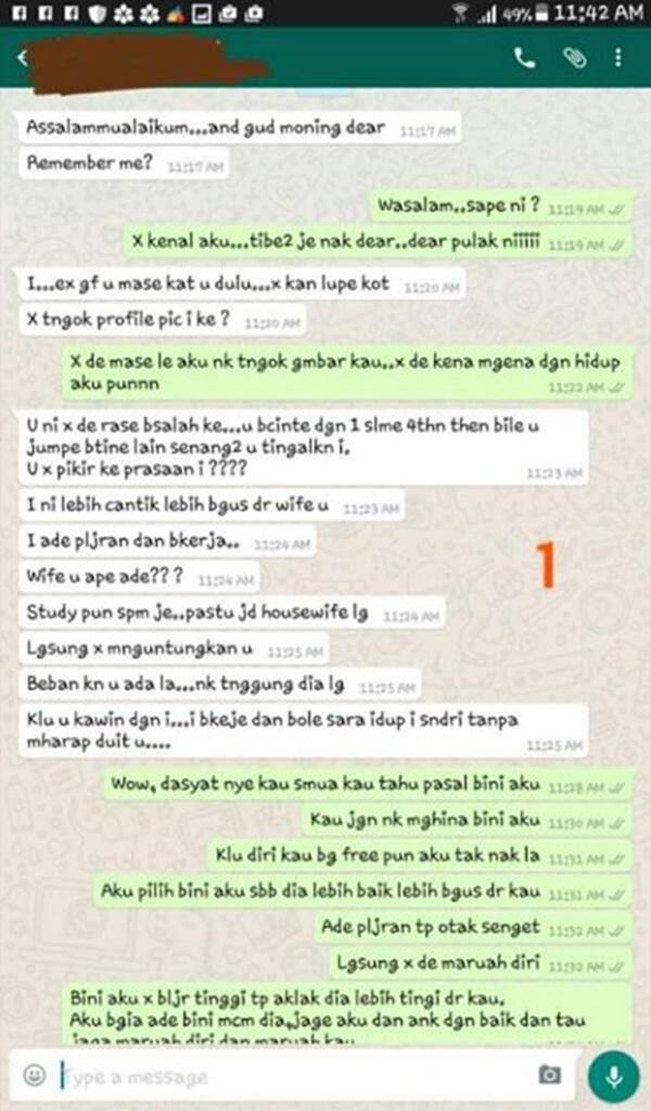 Isteri Baca Whatsapp Suami Dengan Bekas Kekasih, Tapi Cara Suaminya Balas Memang Win!!