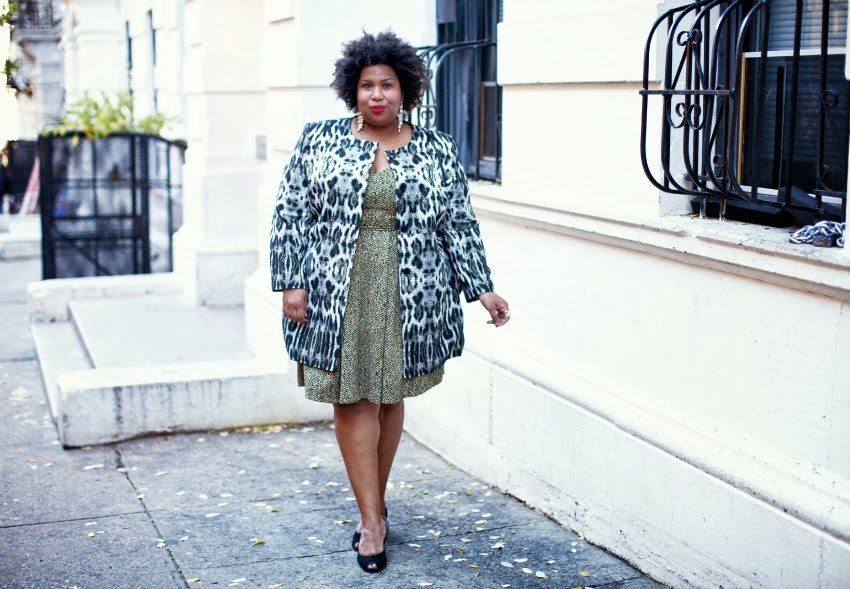 And I Get Dressed, Leopard, Tweed, plus size fashion