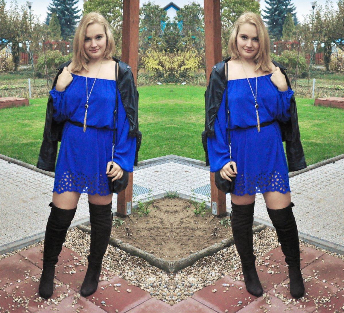 jak_się_wyszczuplić_sukienka_kobaltowa