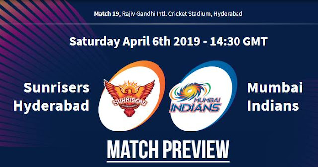 VIVO IPL 2019 Match 19 SRH vs MI Match Preview, Head to Head and Trivia