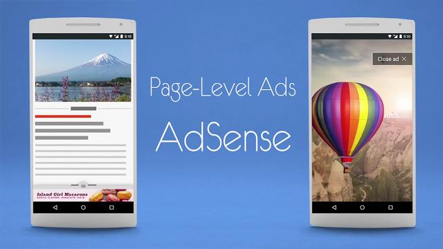 Cara pasang Iklan PAGE LEVEL ADS Adsense yang tampil didepan dan dibawah versi Mobile