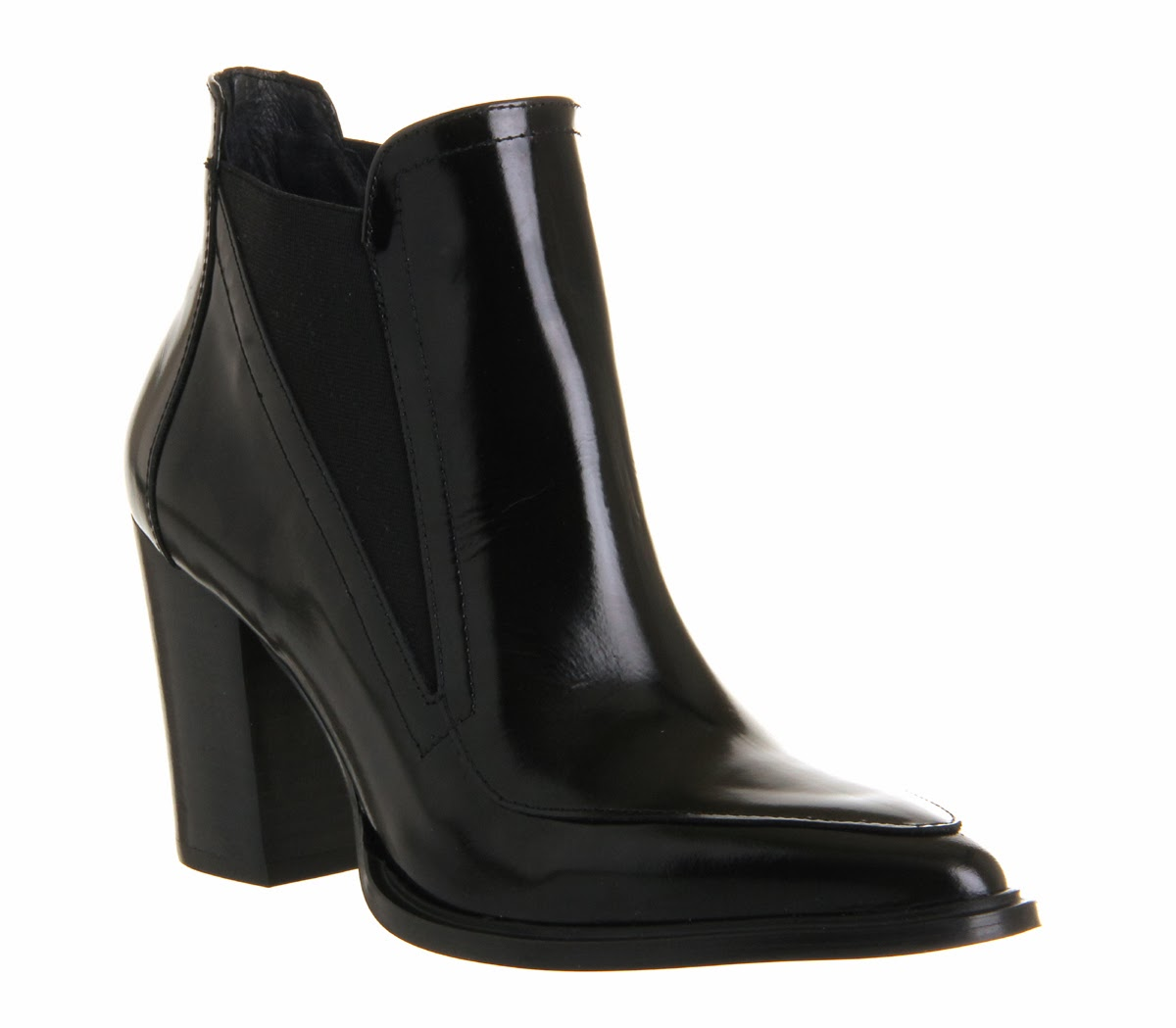 Black patent ankle boots from Office