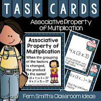 3rd Grade Go Math 4.6 Associative Property of Multiplication Task Cards