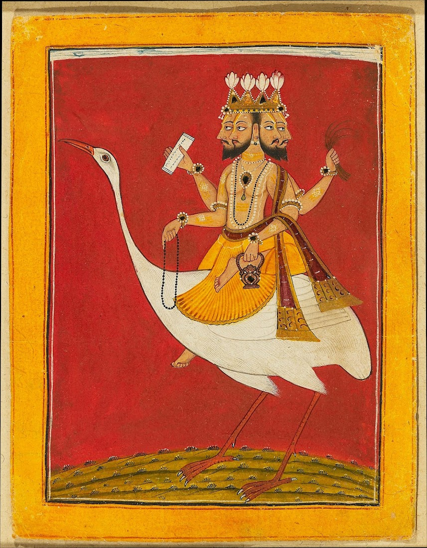 Brahma, Creator of the Universe, Riding on a Goose - c1720