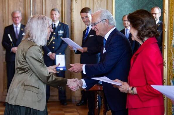 King Carl Gustaf handed out HM The King's Medals during a ceremony held at the Royal Palace
