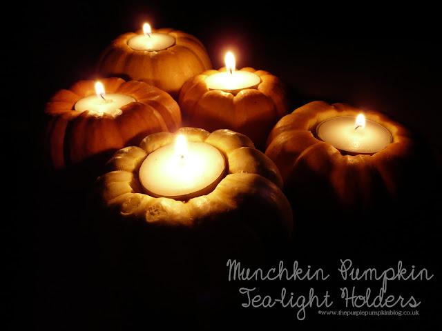 Munchkin Pumpkin Tea-Light Holders | The Purple Pumpkin Blog