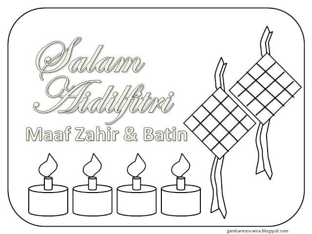 Edisi Special Mewarnai Gambar Tema Lebaran Idul Fitri
