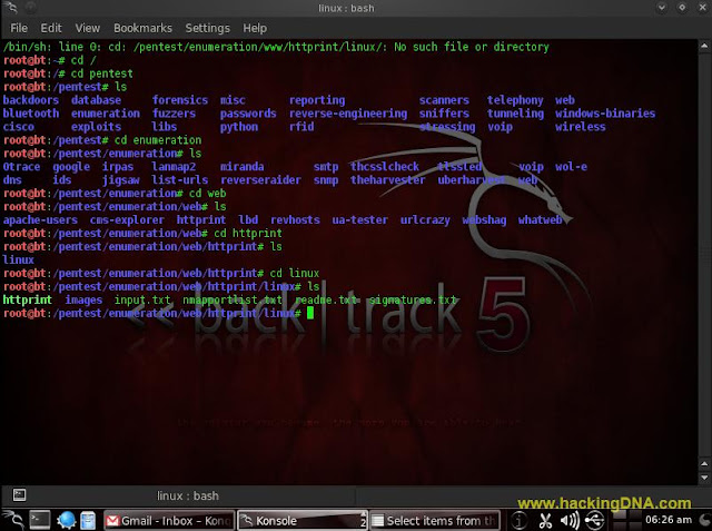 httprint on backtrack 5