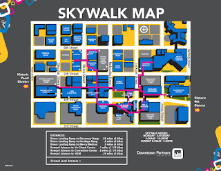 map of Sioux City Skywalk system from Sioux City Downtown Partners