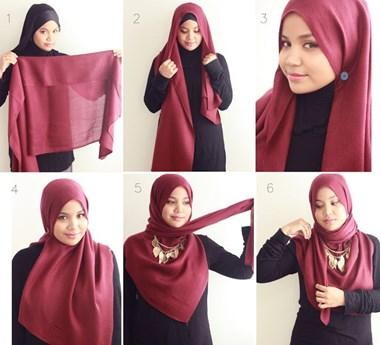 Koleksi Gaya Hijab Pashmina