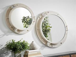Espejo Ojo de Buey Blanco 56 D Crosont