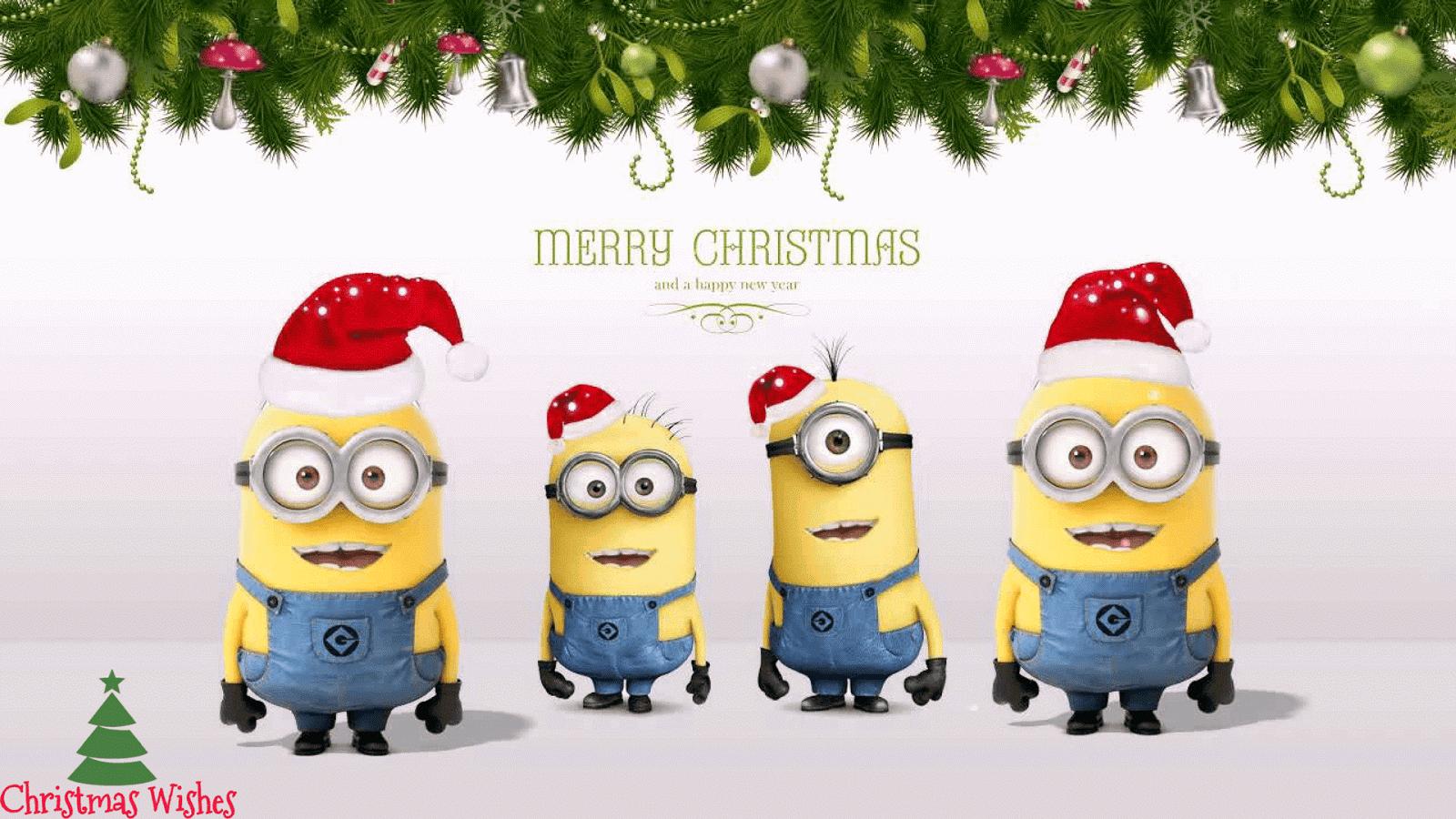 minions christmasminions christmas wallpaper merry christmas minions