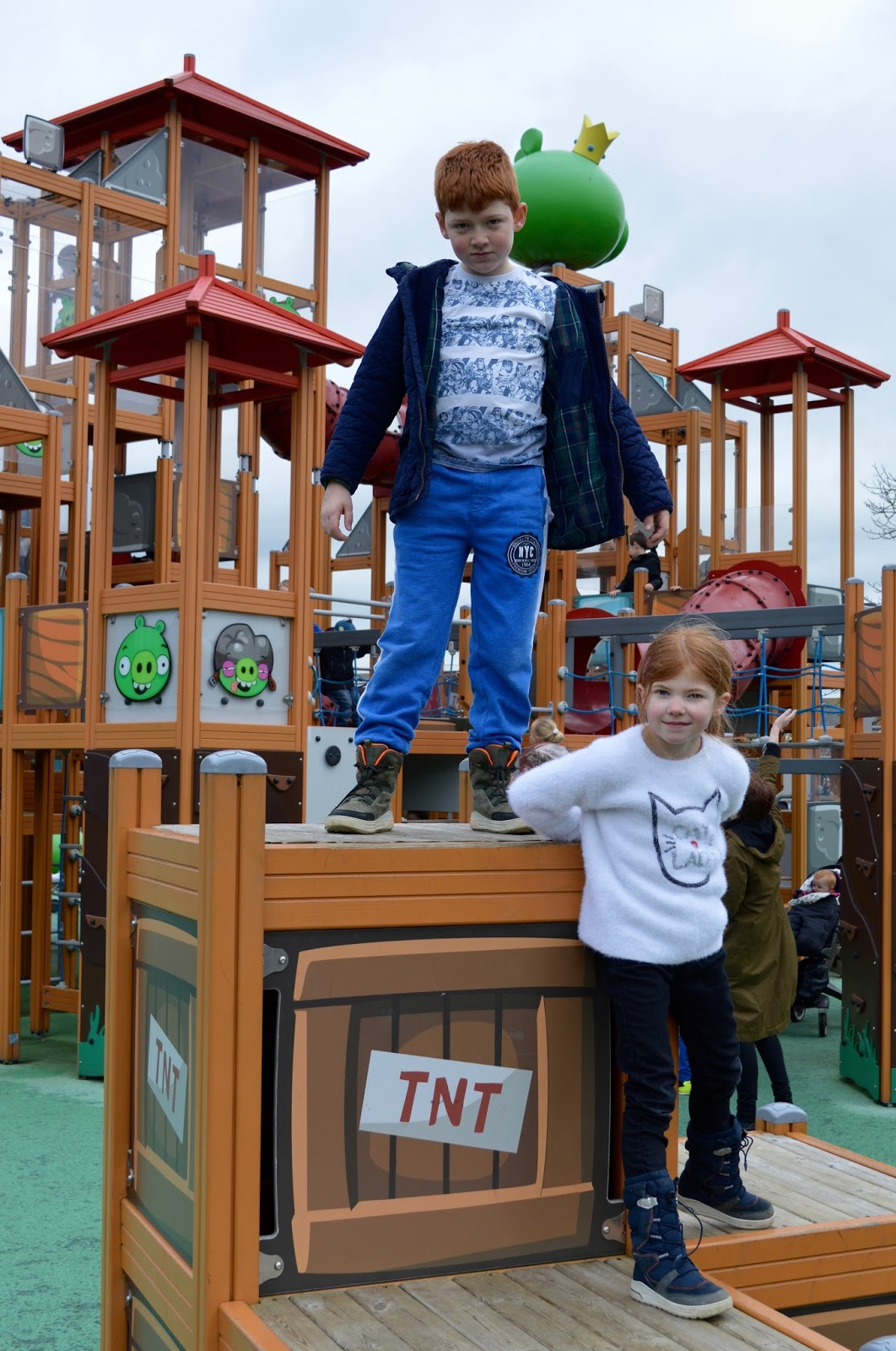 Visiting Angry Birds Activity Park at Lightwater Valley, North Yorkshire - TNT blocks