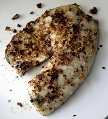 smoked almond crusted tilapia