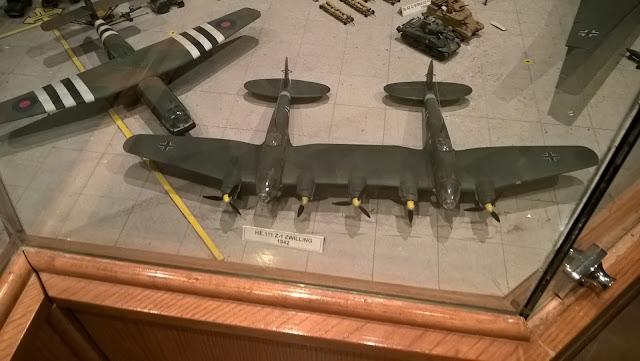 Maket Heinkel He 111 savaş uçağı. İstanbul Havacılık Müzesi