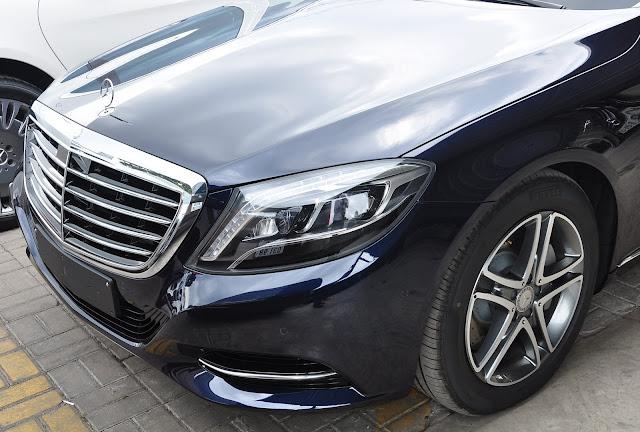 Lưới tản nhiện Mercedes S400 L thiết kế 4 nan mạ Chrome