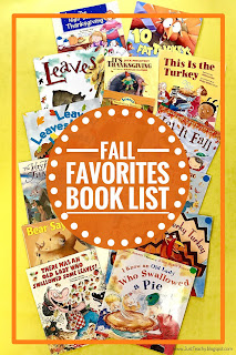 Fall Favorites Book List, Great picture books to read aloud to your students or your own children this fall