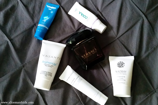 Coola, sunscreen, Versace Crystal Noir, Noabay, Marcelle, Vasanti, beauty, perfume, face, skincare