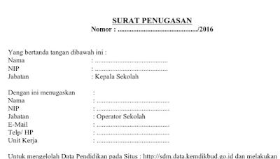 Langkah Langkah Memperbarui Surat Penugasan Operator di SDM Data Kemdikbud Terbaru