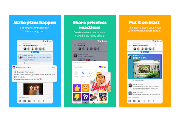 Yahoo Together group messaging for Android and iOS released