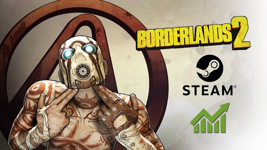borderlands 2 steam most played game 2019