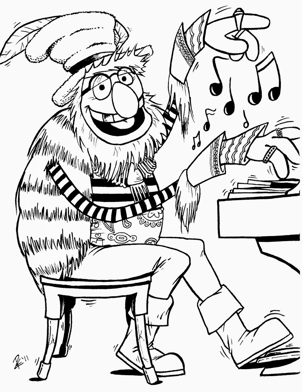 Coloring Pages Muppets Coloring Pages Free And Printable