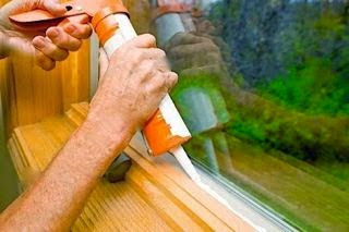 Interior window caulking