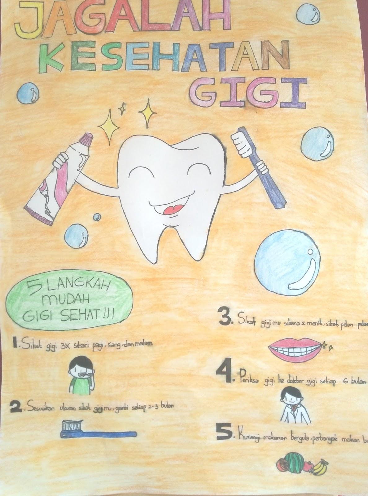 Hidup Sehat Contoh Gambar Poster Kesehatan Yang Mudah Digambar